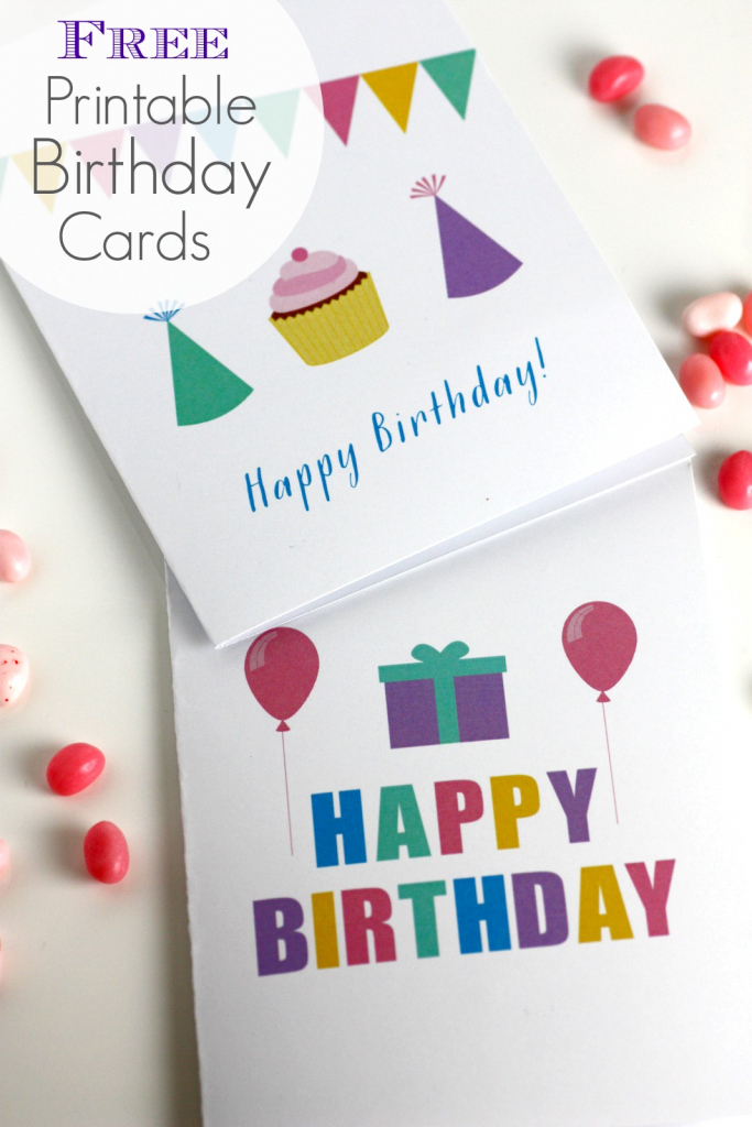 Free Printable Blank Birthday Cards | Catch My Party | Free Printable Personalized Birthday Cards