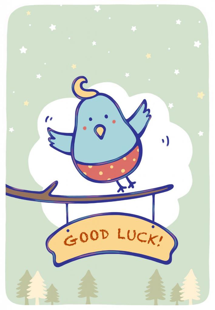 Free Printable Bluebird Of Happiness Greeting Cardlittlestar | Good Luck Greeting Cards Printable