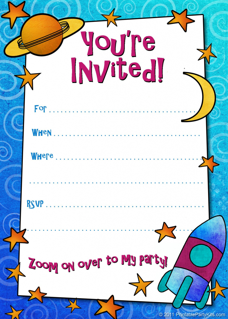 Free Printable Boys Birthday Party Invitations | Birthday Party | Free Printable Birthday Invitation Cards Templates