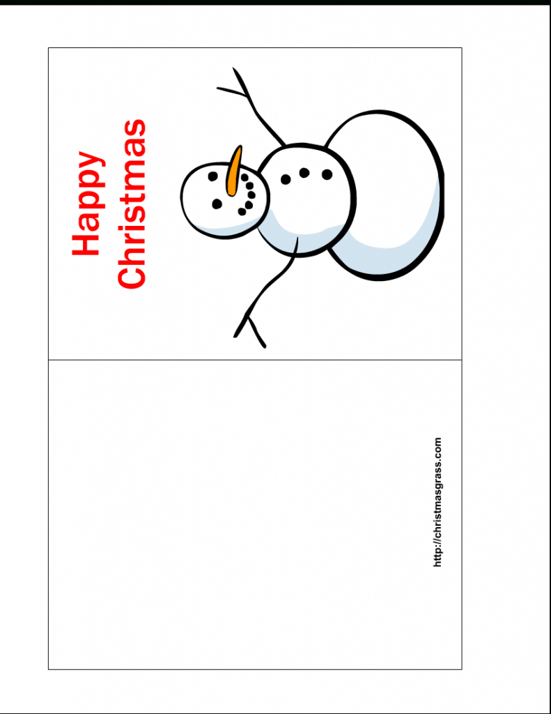 Free Printable Cards Template - Kleo.bergdorfbib.co | Free Printable Quarter Fold Christmas Cards
