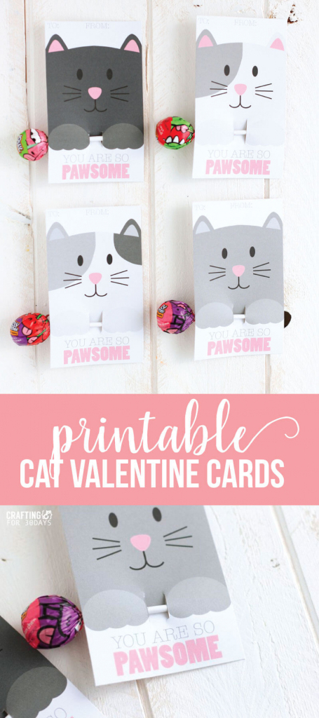 Free Printable Cat Valentine Cards | Free Printable Cat Valentine Cards