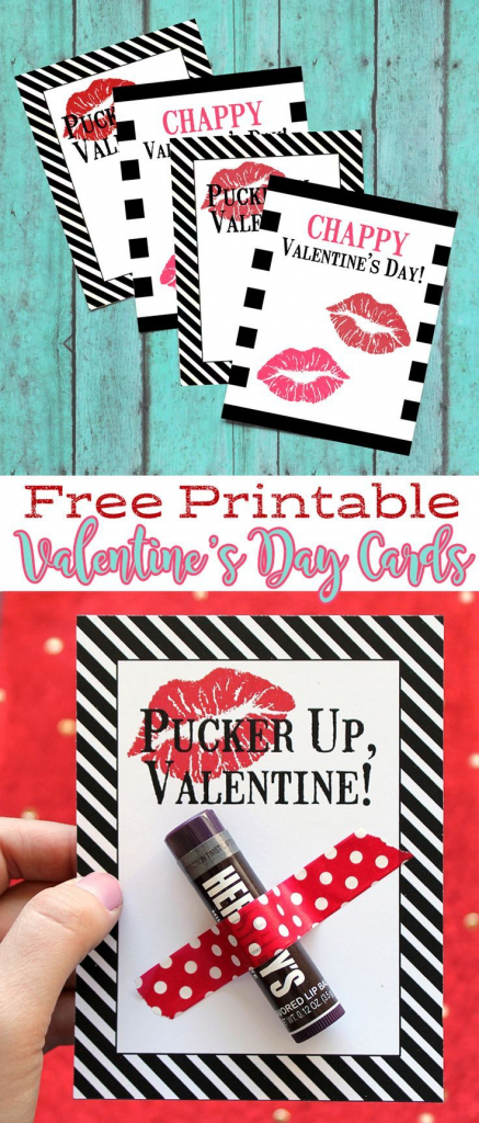 Free Printable Chapstick Valentine's Day Cards   Will You Be My   Valentine's Day Cards For Her Printable