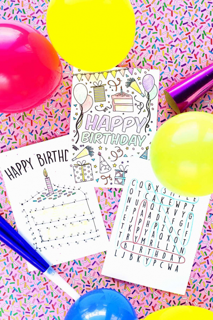 Free Printable Childrens Birthday Cards Party Games High Quality Kid | Free Printable Kids Birthday Cards Boys