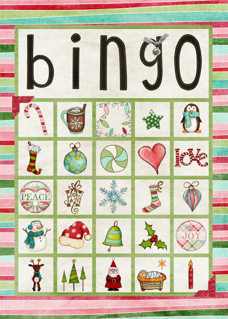 Free Printable Christmas Bingo Cards For Large Groups - Printable Cards | Free Printable Christmas Bingo Cards