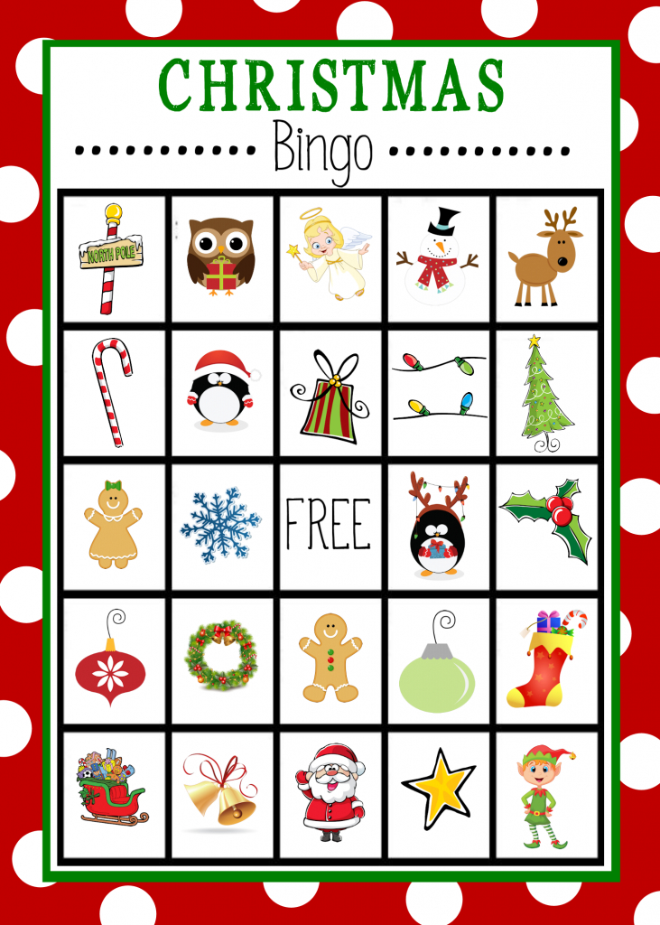 Free Printable Christmas Bingo Game | Christmas | Christmas Bingo | Free Printable Bingo Cards For Large Groups