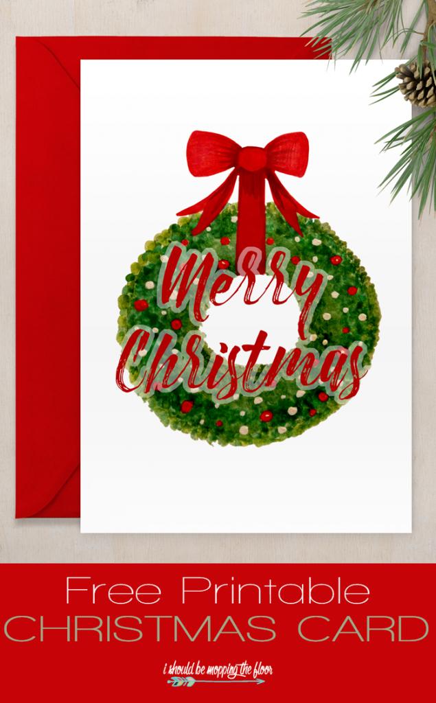 Free Printable Christmas Card | Christmas / Winter | Free Christmas | Free Printable Xmas Cards Download
