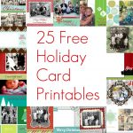 Free Printable Christmas Card Inserts – Happy Holidays! | Free Printable Christmas Cards With Photo Insert