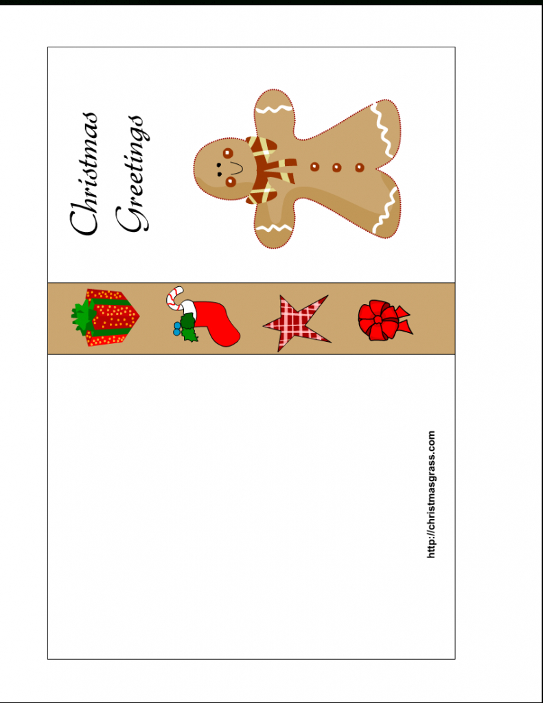 Free Printable Christmas Cards   Free Printable Christmas Card With   To And From Christmas Cards Printable