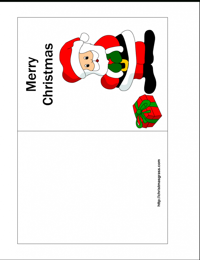 Free Printable Christmas Cards | Free Printable Christmas Card With | To And From Christmas Cards Printable