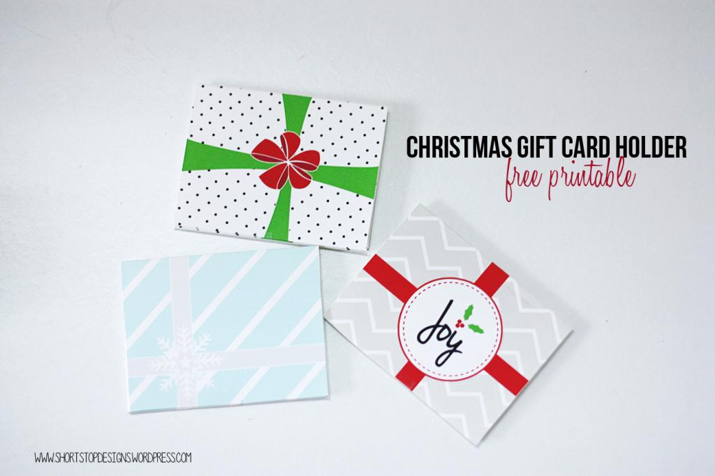 Free Printable Christmas Gift Card Holders | Free Printable Christmas Gift Cards