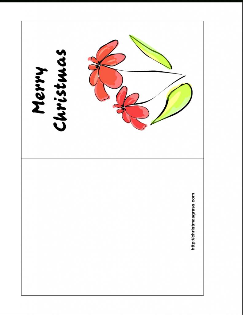 Free Printable Christmas Greeting Cards | Printable Greeting Card Template