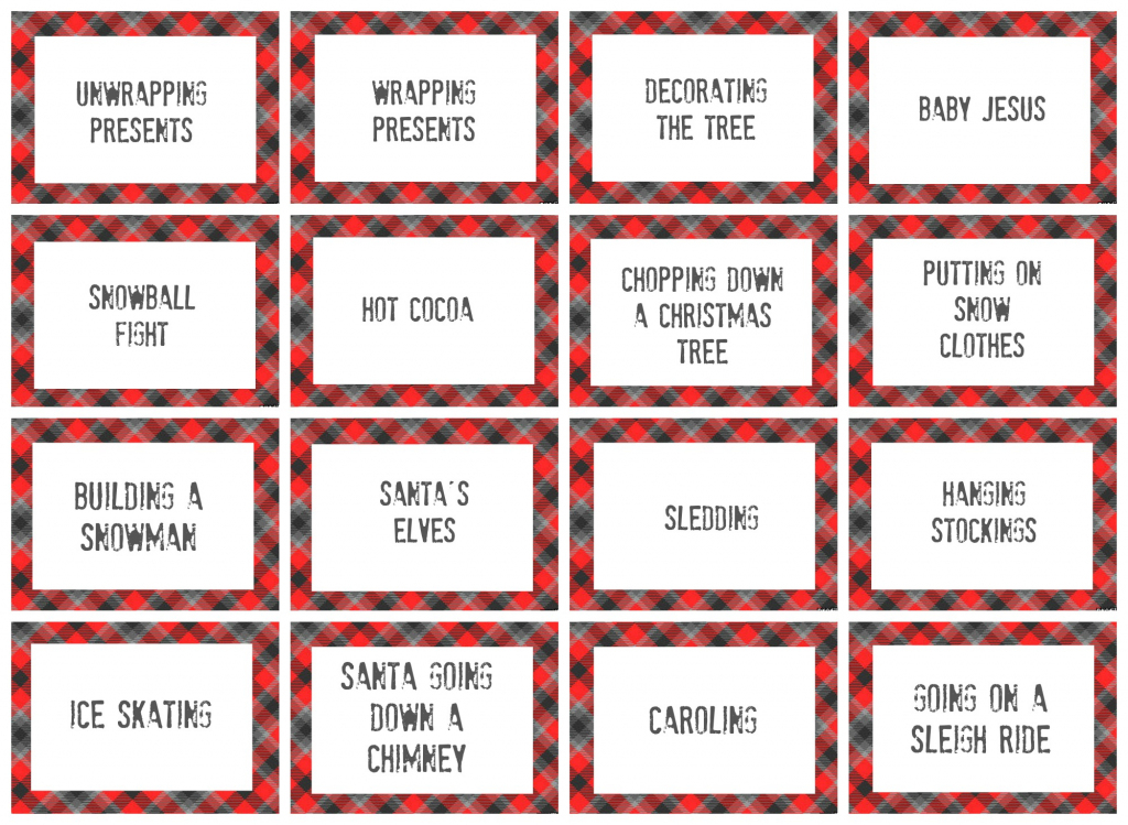 Free Printable Christmas Pictionary Cards – Festival Collections | Free Printable Christmas Pictionary Cards