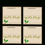 Free Printable Christmas Place Cards | Free Printable Christmas Table Place Cards Template