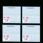 Free Printable Christmas Place Cards | Free Printable Place Card Templates Christmas