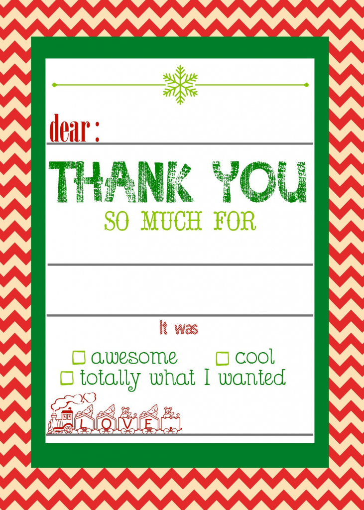 Free, Printable Christmas Thank You Cards For Kids | Christmas | Christmas Thank You Cards Printable Free