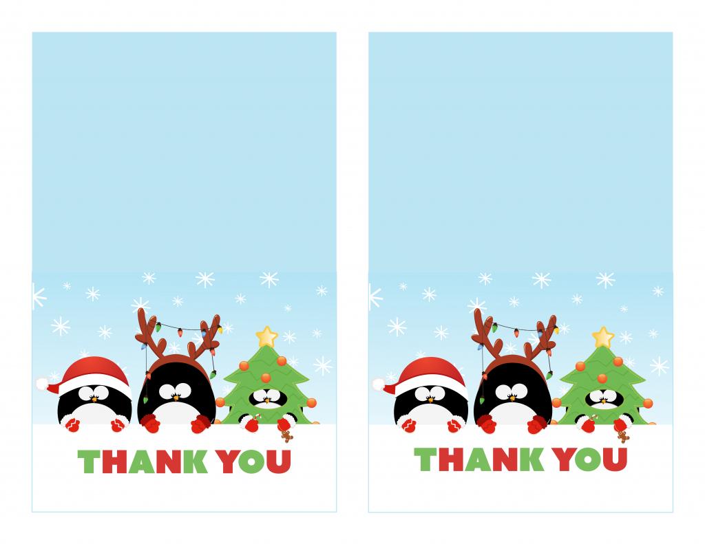 Free Printable Christmas Thank You Cards - Printable Cards | Free Printable Xmas Cards