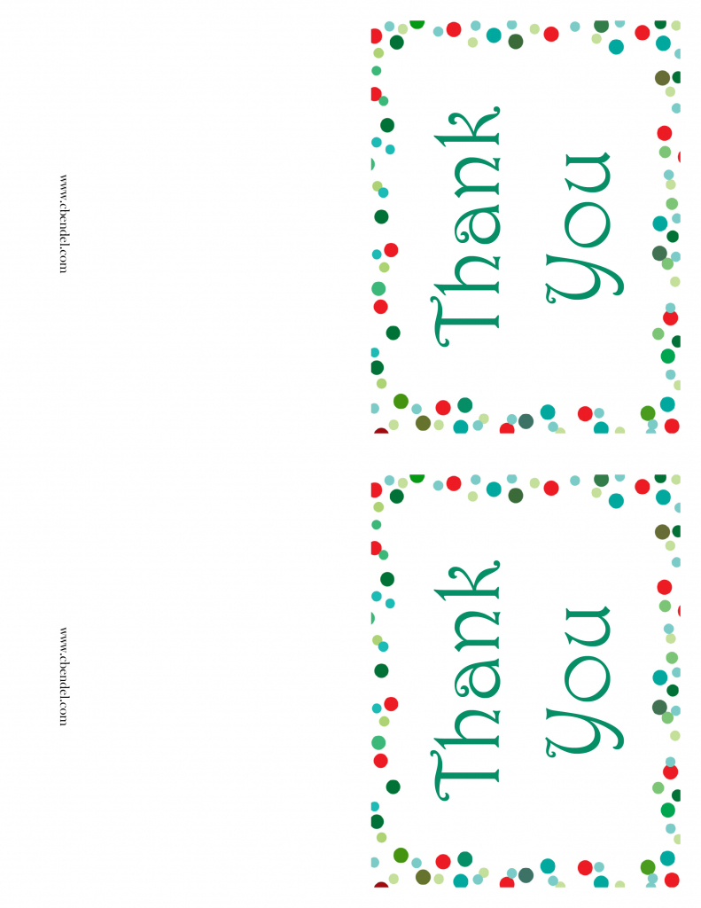 Free Printable Christmas Thank You Cards | Printable Christmas Thank You Cards