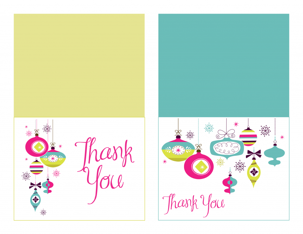 Free Printable Christmas Thank You Notes – Festival Collections | Christmas Thank You Cards Printable Free