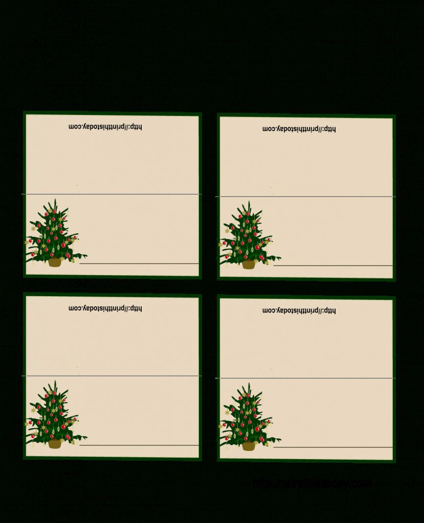 Free Printable Christmas Tree Place Cards | *+* Free Holiday | Printable Christmas Place Cards