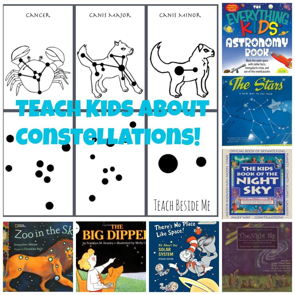 Free Printable Constellation Cards – Teach Beside Me | Printable Constellation Projection Cards