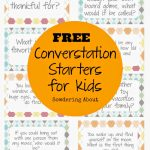 Free Printable; Conversation Starters For Kids | Lunchtime Laughs | Printable Conversation Cards For Adults