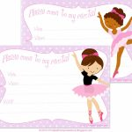 Free Printable Dance Recital Invitations | Free Printable Party | Free Printable Dance Recital Cards