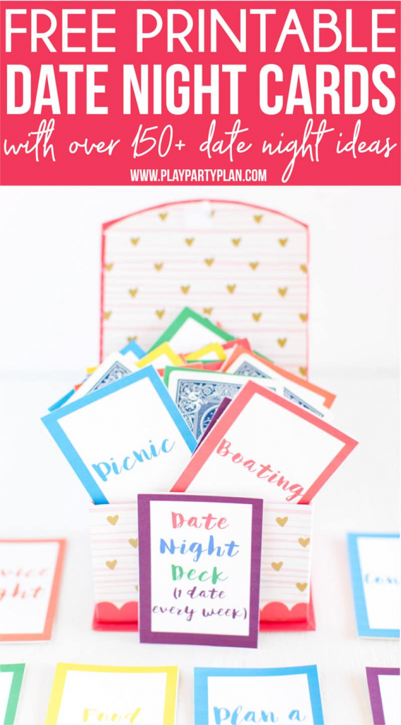 Free Printable Date Night Cards & 150+ Date Night Ideas - Play Party   Free Printable Deck Of Cards