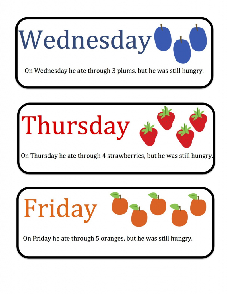 Free Printable Days Of The Week Cards | Free Printables | Free Printable Days Of The Week Cards