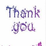 Free Printable Decorated Thank You Card Greeting Card     Great Site   Thank You Card Free Printable Template