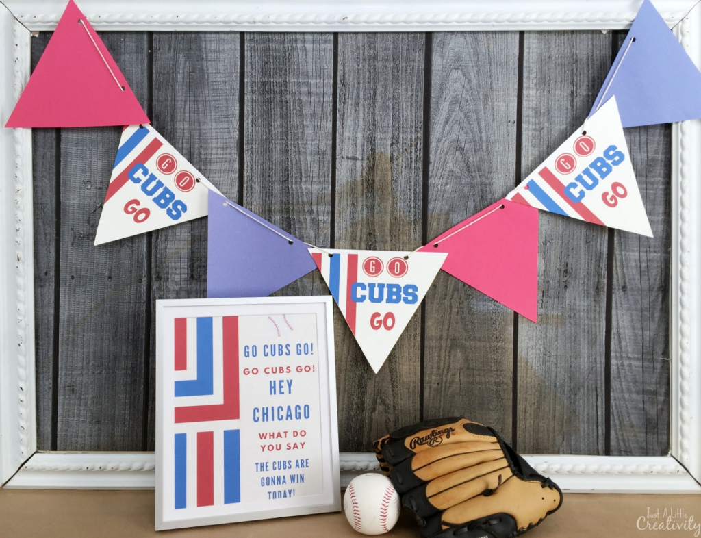 Free Printable Decorations For Your Chicago Cubs Baseball Party | Printable Chicago Cubs Birthday Cards