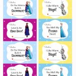 Free Printable Disney Frozen Valentine's Day Cards | Saint | Frozen Valentine Cards Printable