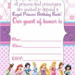 Free Printable Disney Princess Ticket Invitation   Printable   Free Printable Princess Invitation Cards