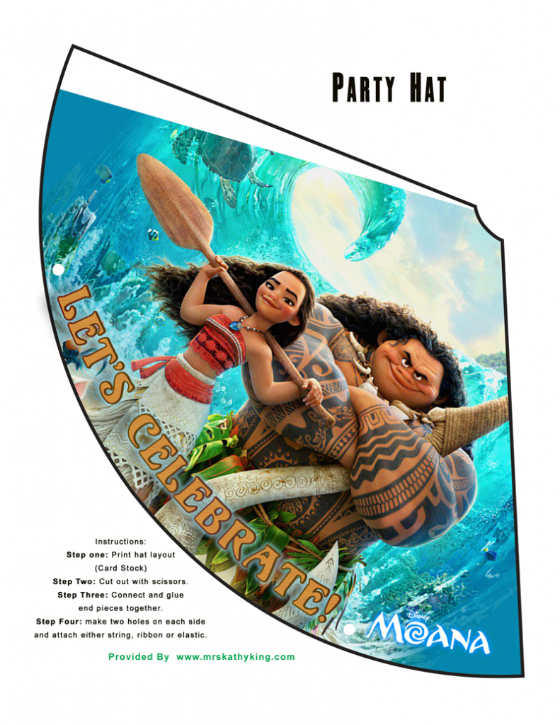 Free Printable Disney's Moana Birthday Party Decorations #moana | Free Printable Moana Birthday Cards