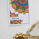 Free Printable Diwali Cards | Greeting Cards | Diwali Cards, Diwali | Printable Diwali Greeting Cards