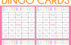 Free Printable Easter Bingo Cards For One Sweet Easter – Play Party Plan | Free Printable Religious Easter Bingo Cards