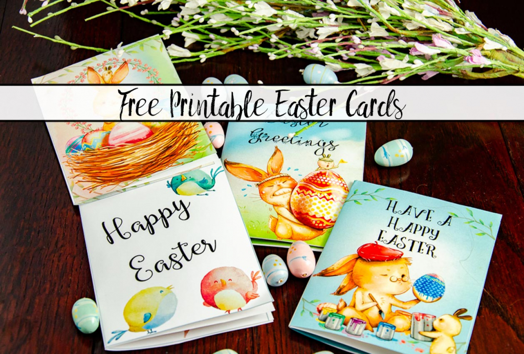 Free Printable Easter Cards: 4 Adorable Designs | Printable Easter Greeting Cards Free