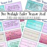 Free Printable Easter Treasure Hunt: 24 Mix & Match Clue Plus Blanks | Treasure Hunt Printable Clue Cards