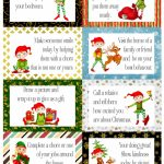 Free Printable Elf Good Deed Cards. A4. Enjoy! | Elf On A Shelf | Printable Elf On The Shelf Note Cards