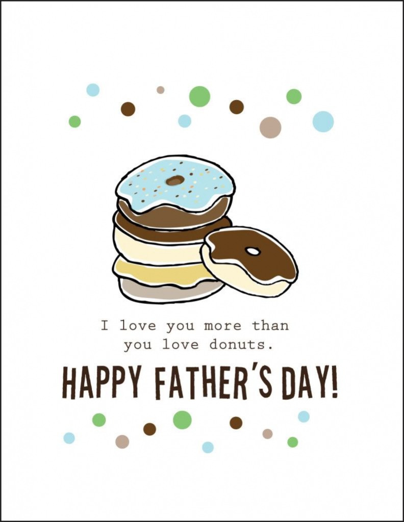 Free Printable Fathers Day Cards |  Cardstock Paper Will Print 2 | Free Printable Fathers Day Cards