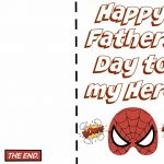 Free Printable Fathers Day Super Hero Cards. Just Print Out And Let | Super Dad Card Printable