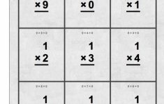Flash Cards Multiplication Free Printable