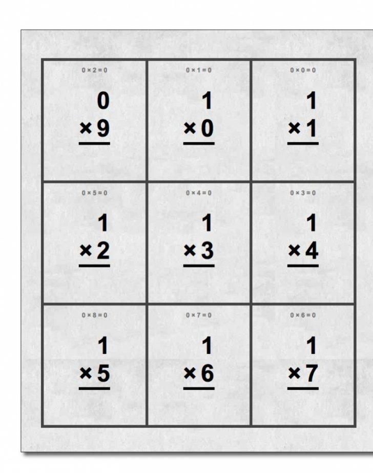 Flash Cards Multiplication Free Printable