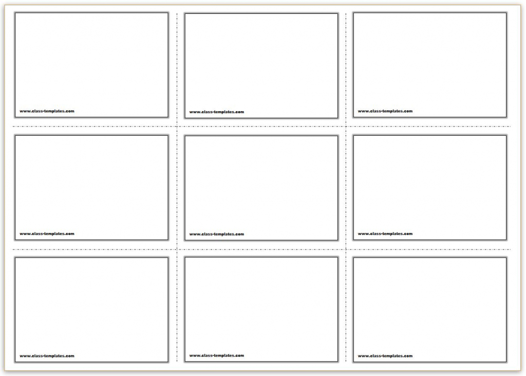 Free Printable Flash Cards Template | Free Printable Card Templates