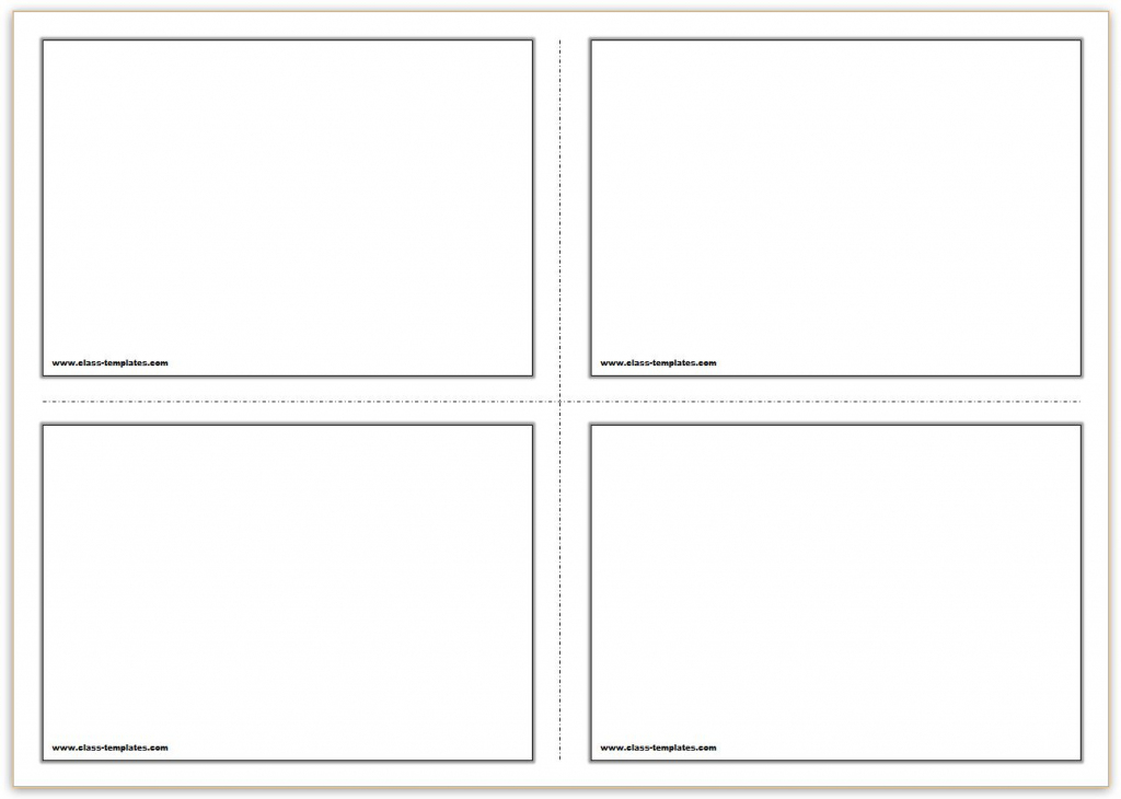 Free Printable Flash Cards Template | Free Printable Index Cards