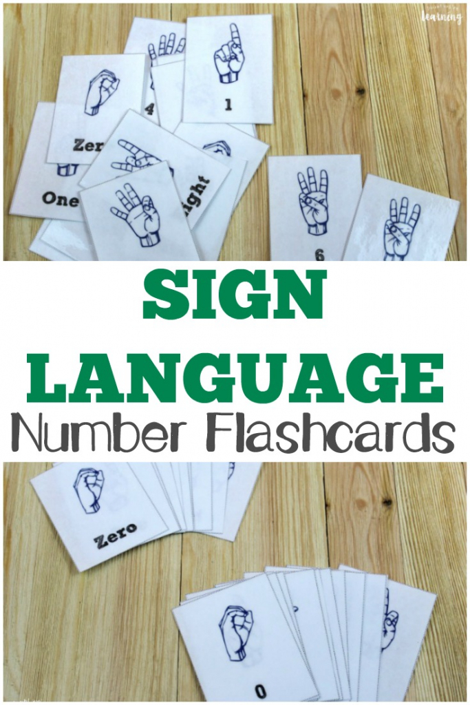 Free Printable Flashcards: Asl Number Flashcards | Sign Language Flash Cards Printables