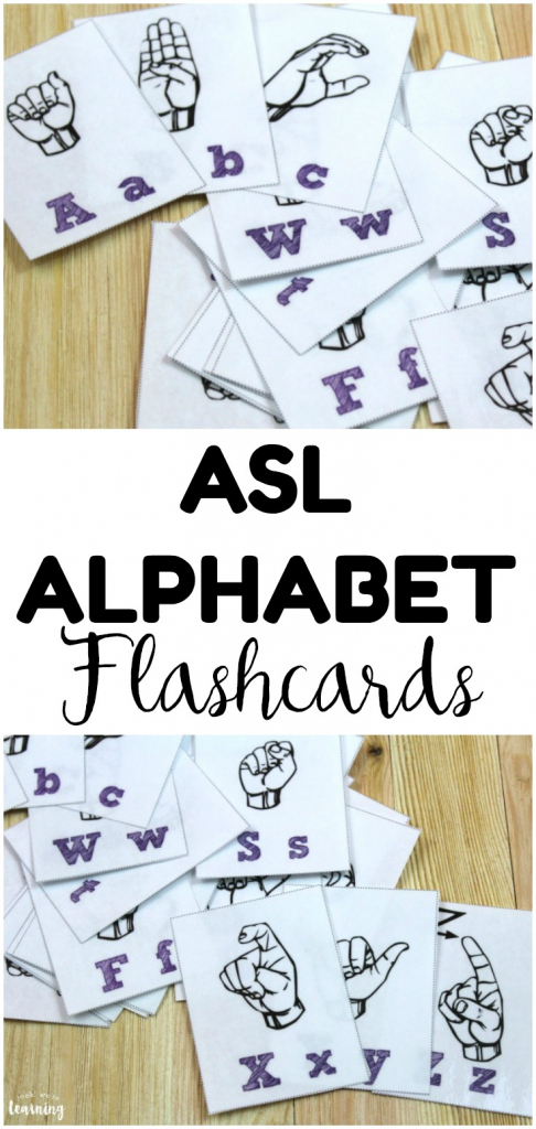 Free Printable Flashcards: Sign Language Alphabet Flashcards | Printable Sign Language Flash Cards