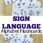 Free Printable Flashcards: Sign Language Alphabet Flashcards | Printable Sign Language Flash Cards