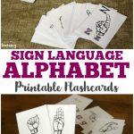 Free Printable Flashcards: Sign Language Alphabet Flashcards | Sign Language Alphabet Printable Flash Cards