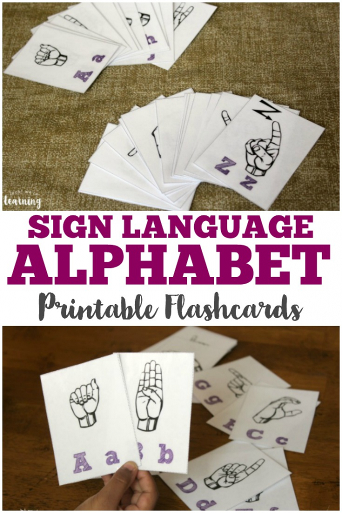 Free Printable Flashcards: Sign Language Alphabet Flashcards | Sign Language Alphabet Printable Flash Cards