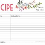 Free Printable : Floral Recipe Card | Free Printable Recipe Cards